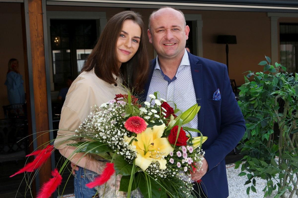 David Novotný s patronkou Kateřinou Zemanovou.